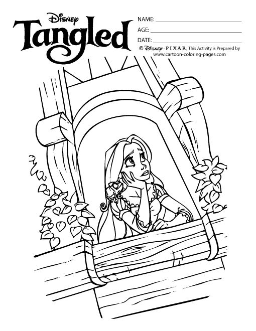 Tangled Tower Coloring Pages