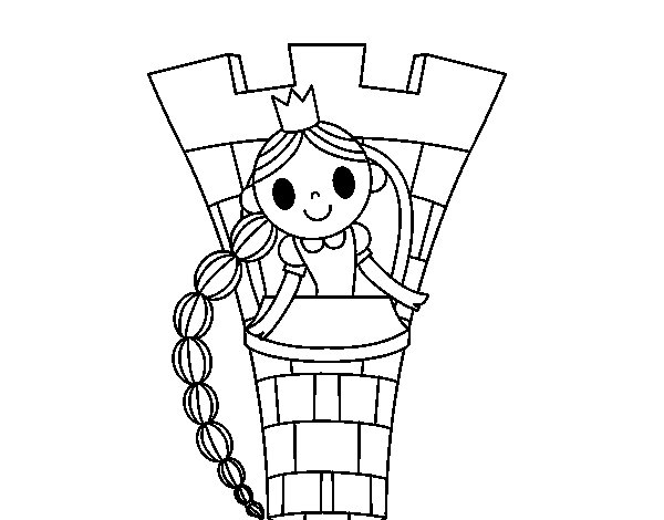 600x470 Rapunzel In The Tower Coloring Page Coloringcrew Rapunzel Tower