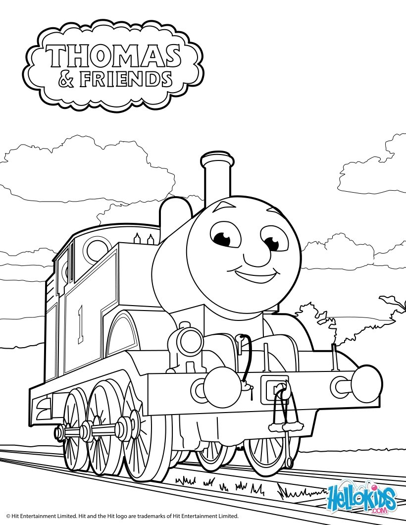 820x1060 Thomas The Tank Engine Coloring Pages
