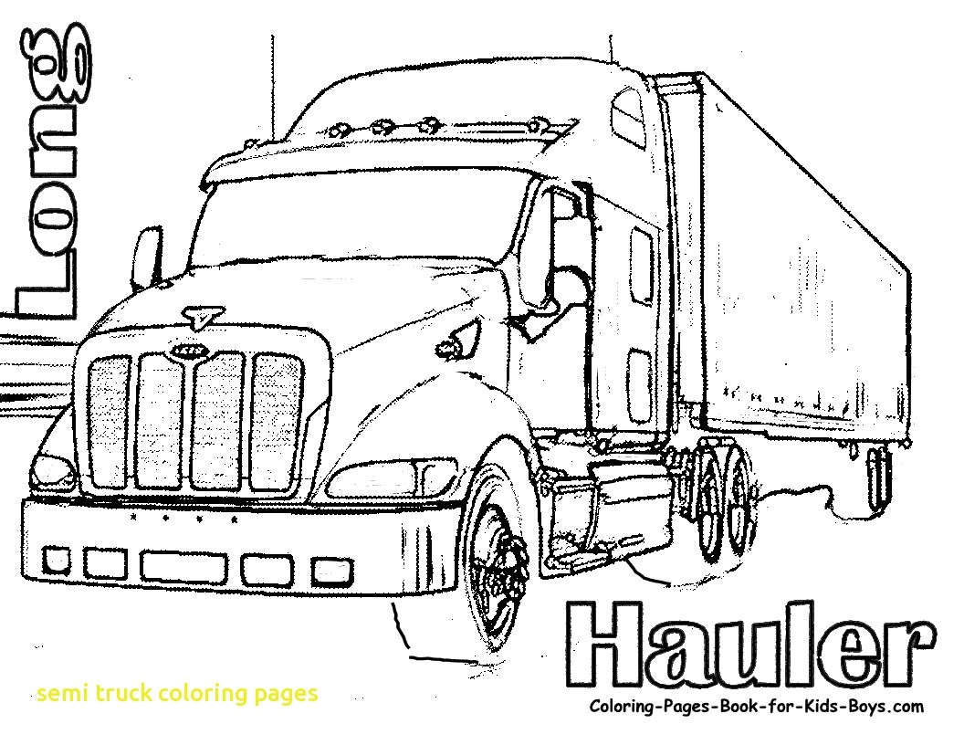 1056x816 New Semi Truck Coloring Pages With Peterbilt Coloring Pages Unique