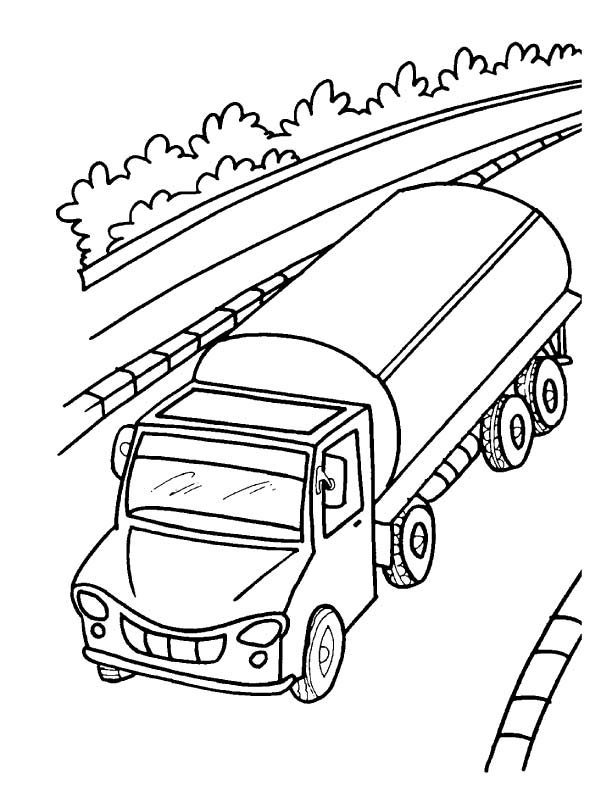 612x792 Oil Tanker Truck Coloring Page Download Free Oil Tanker Truck