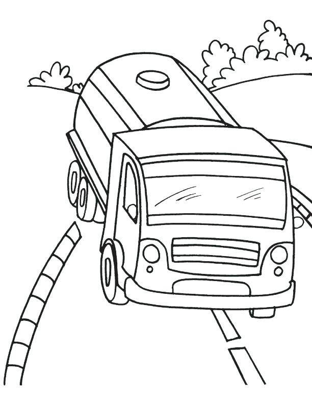 612x792 Tank Truck Coloring Pages Juice Tanker Page Download Free