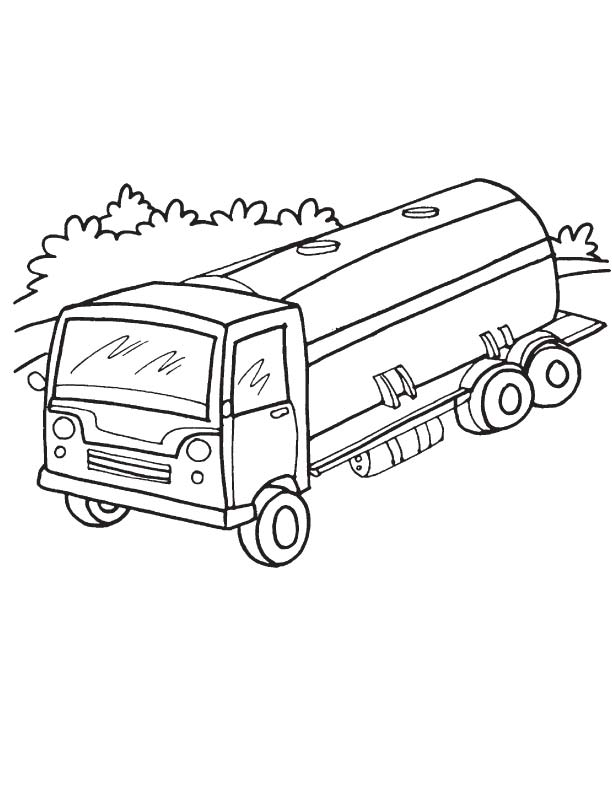 612x792 Tanker Truck Road Coloring Page Download Free Tanker Truck