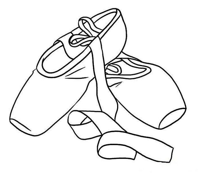 690x601 Printable Pointe Ballet Shoes Coloring Sheet Shoes Coloring Page