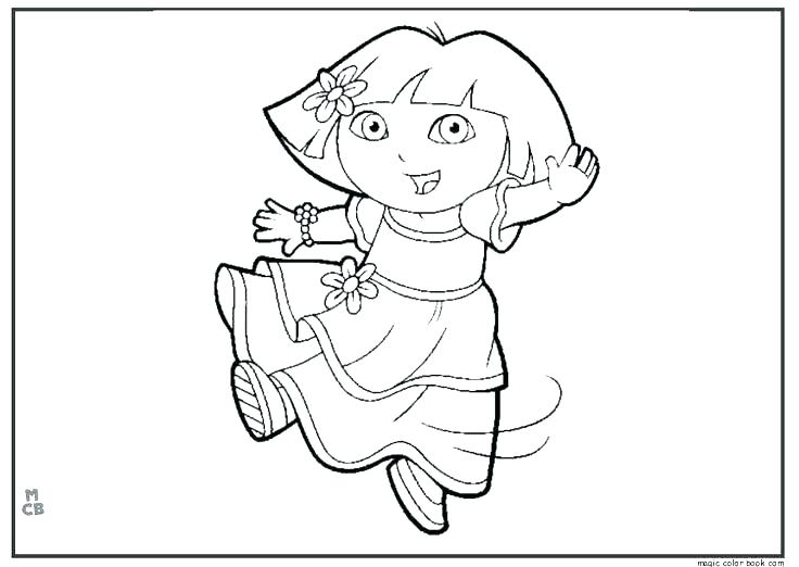 736x522 Dance Coloring Page