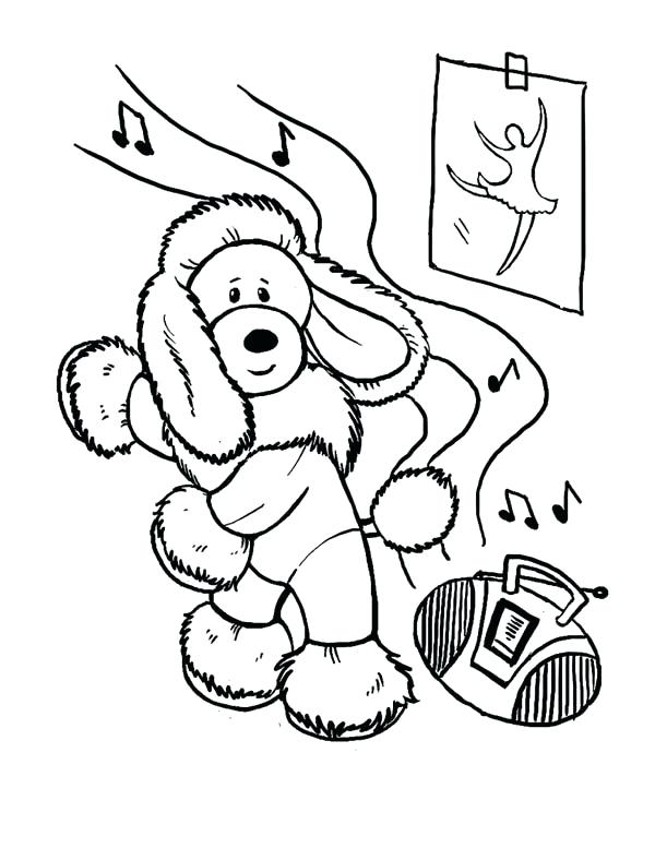 600x777 Dance Color Pages Dog This Funny Dog Learn To Dance Coloring Page