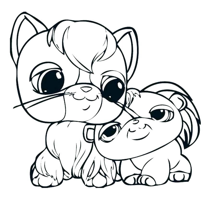 863x836 Littlest Pet Shop Color The Littlest Pet Shop Coloring Pages Pet