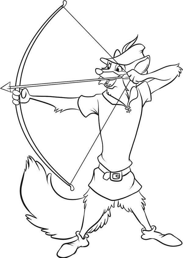 600x842 Robin Hood Aim For Target Coloring Pages Best Place To Color