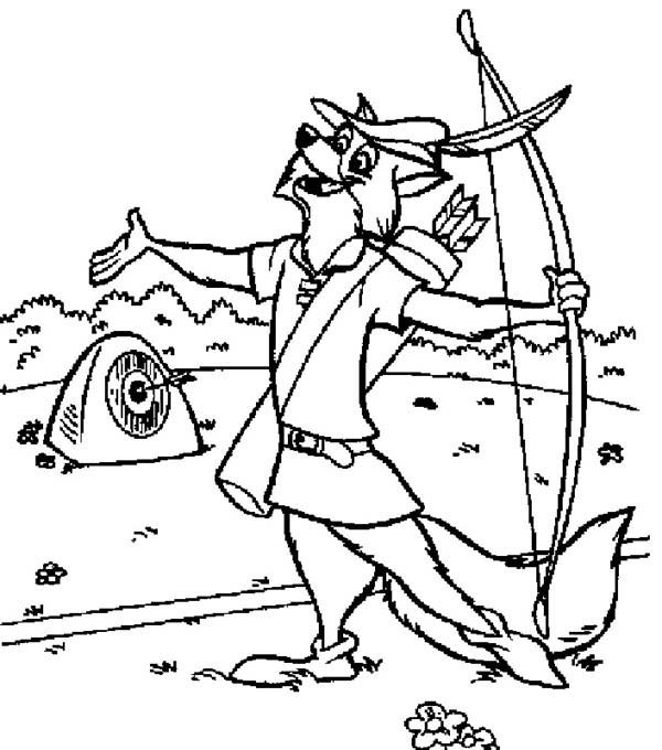 600x680 Robin Hood Bulls Eye The Hard Target Coloring Pages Best Place