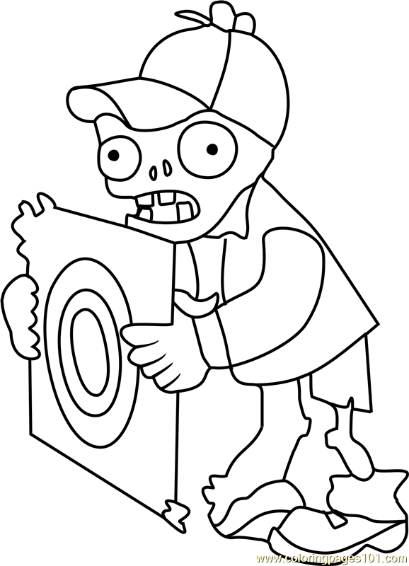 578x800 Target Zombie Coloring Page