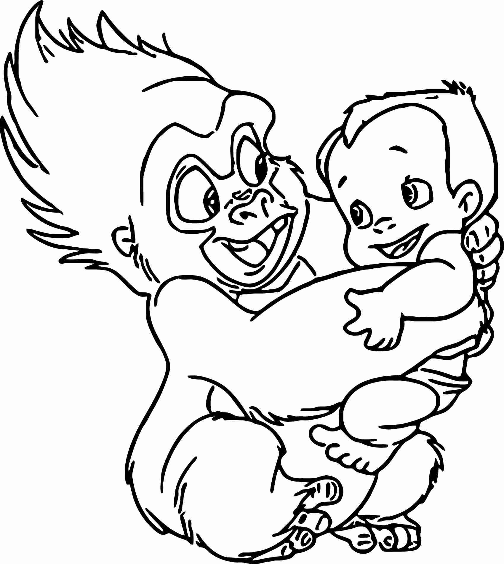1701x1902 Disney Baby Tarzan Coloring Pages C Unbelievable Olegratiy
