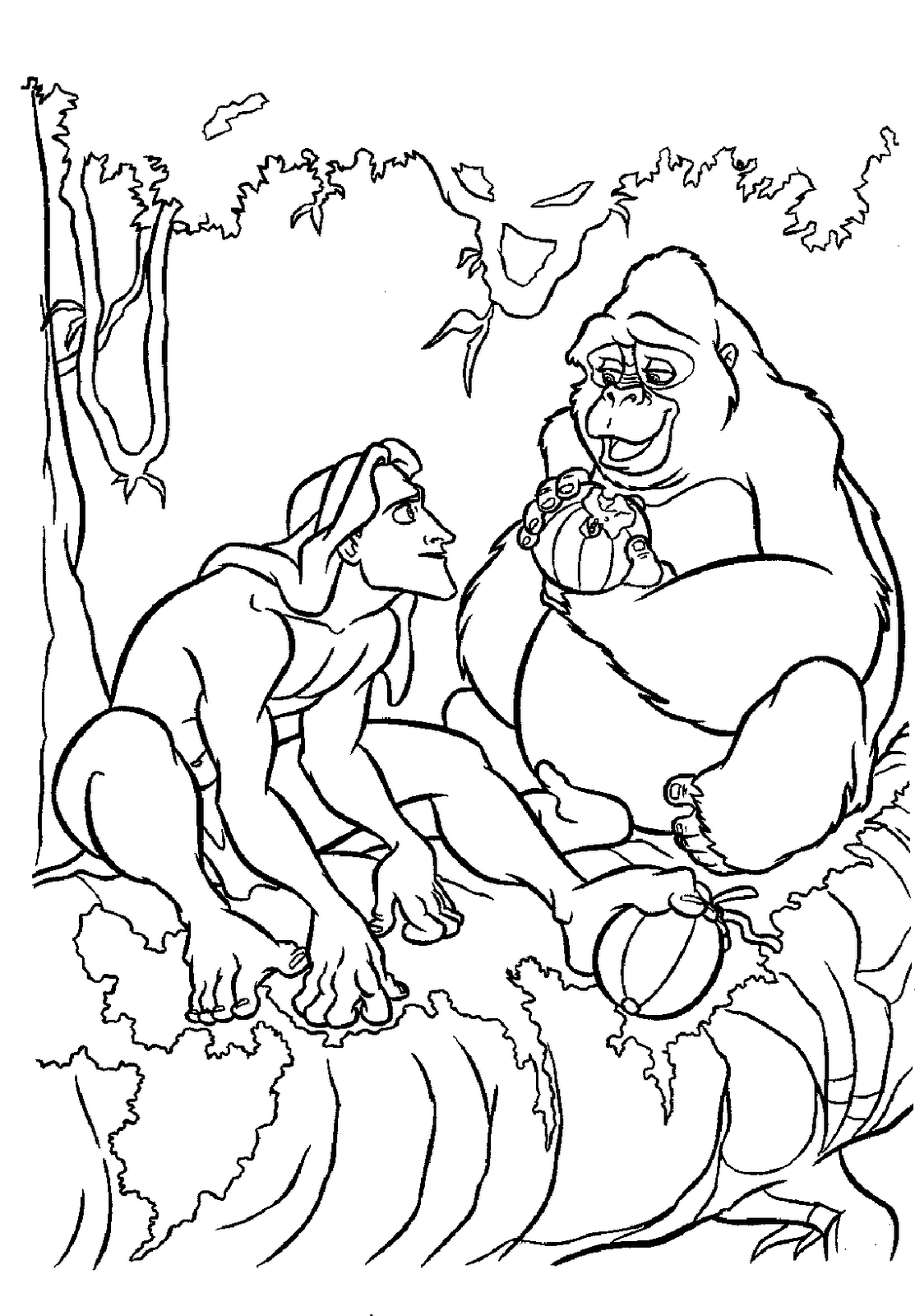 1113x1600 Tarzan Coloring Pages Things With No Place