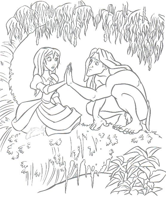 556x662 Marvellous Design Jane From Disney Tarzan Colouring Pages