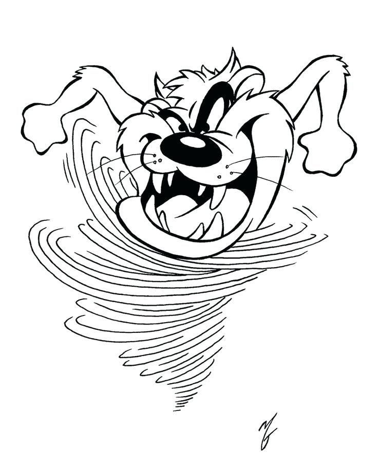 736x909 Tasmanian Devil Coloring Pages Devil Cartoon Coloring Pages