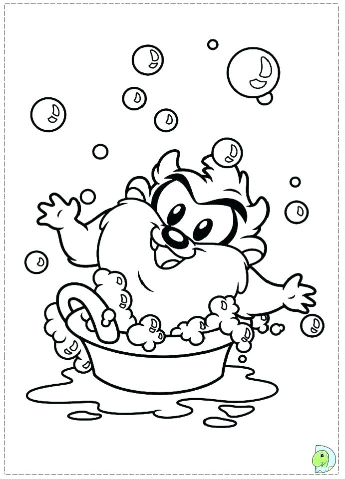 691x960 Tasmanian Devil Coloring Pages Devil Swing Coloring Pages