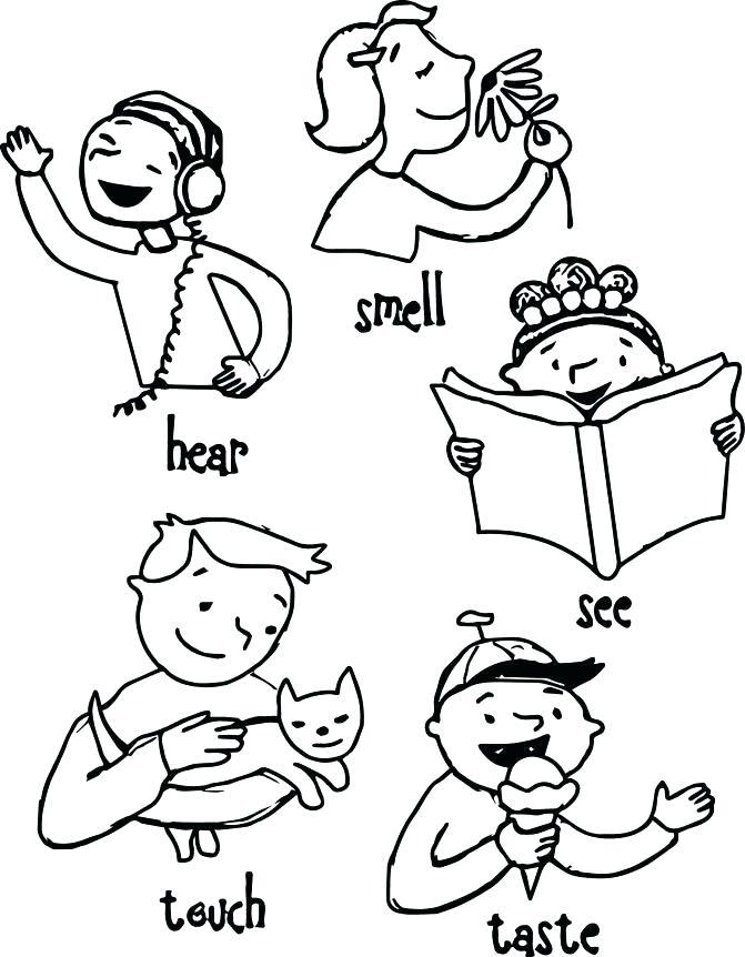 671x862 Senses Coloring Pages Glamorous Sheet Image Book