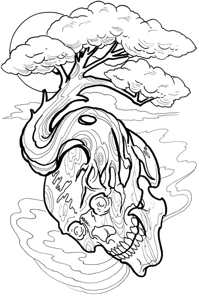 650x965 Tattoo Art Coloring Pages