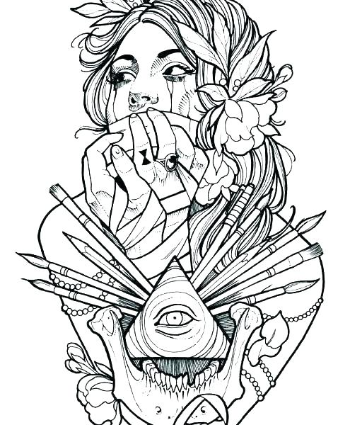 495x600 Tattoo Coloring Pages The Lock And Art Galleries In Tattoo