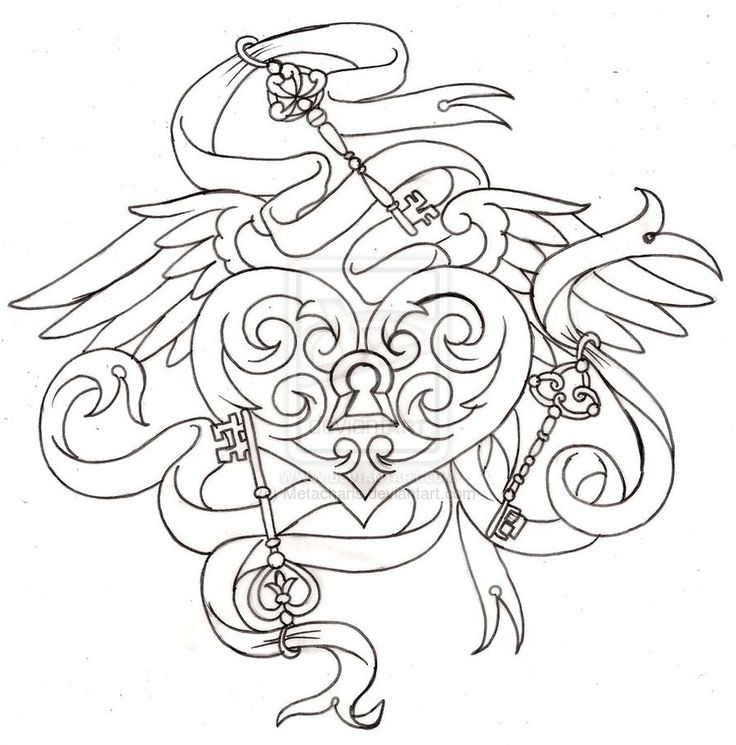 736x745 The Lock And Art Galleries In Tattoo Coloring Pages