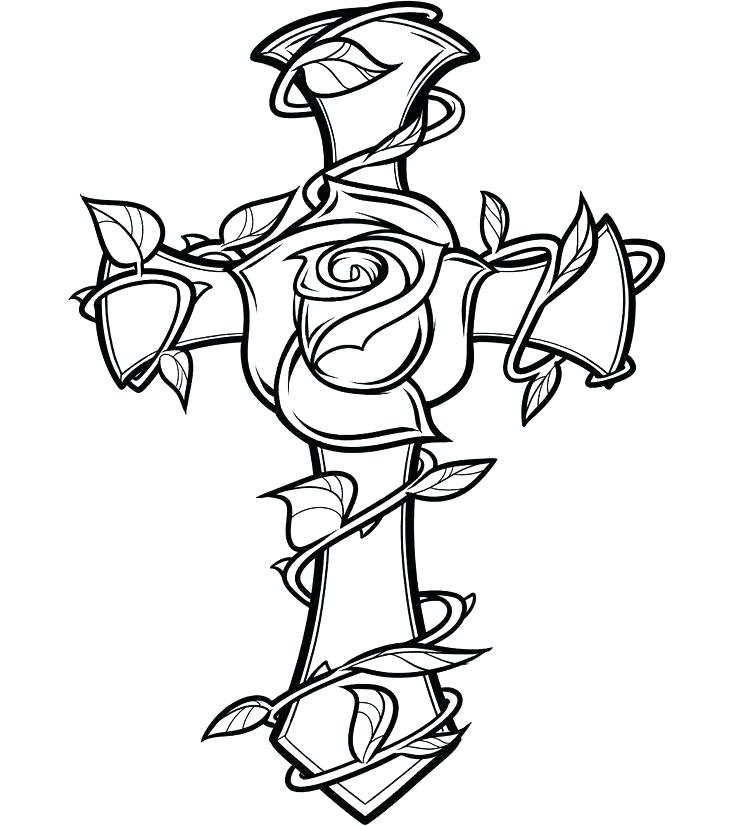 736x826 Cross Coloring Pages To Print Lovely Tattoo Coloring Pages