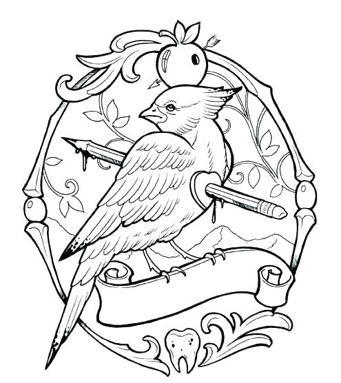 495x556 Tattoos Coloring Pages