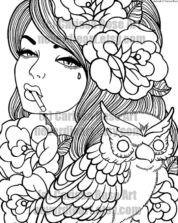 570x713 Free Printable Tattoo Coloring Pages Beautiful Tattoo Coloring