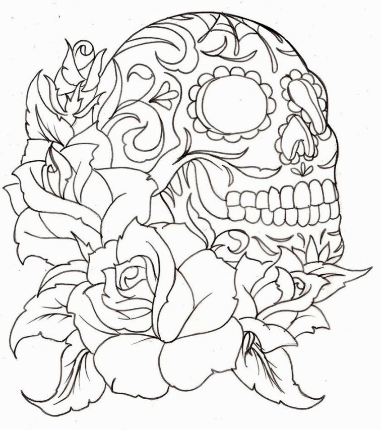 756x853 Image For Tattoo Coloring Pages Printable Aztlan