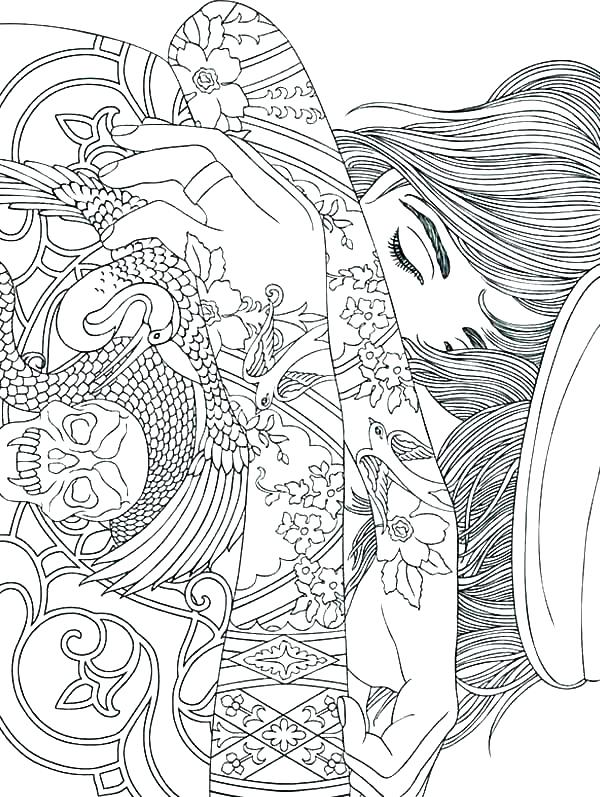 600x797 Stoner Coloring Pages Tattoo Coloring Pages Printable Stoner