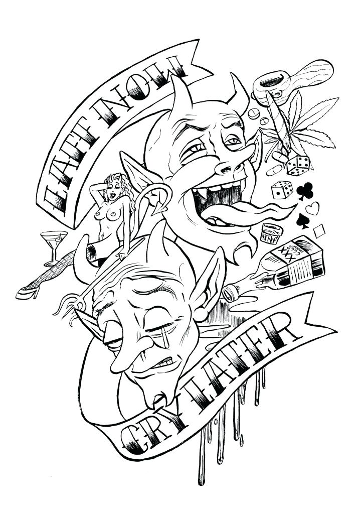 724x1024 Tattoo Coloring Pages Printable Tattoo Coloring Pages Idea Tattoo