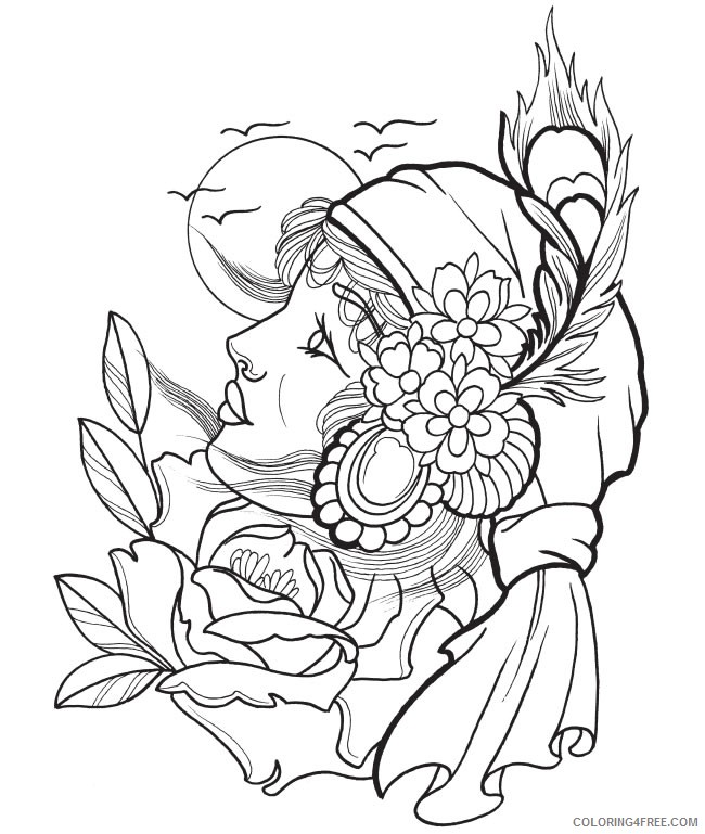 650x769 Tattoo Coloring Pages Anime Girl Tattoo