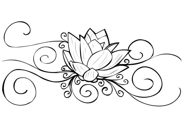 600x450 Free Printable Tattoo Coloring Pages Lotus Flower Tattoo Coloring