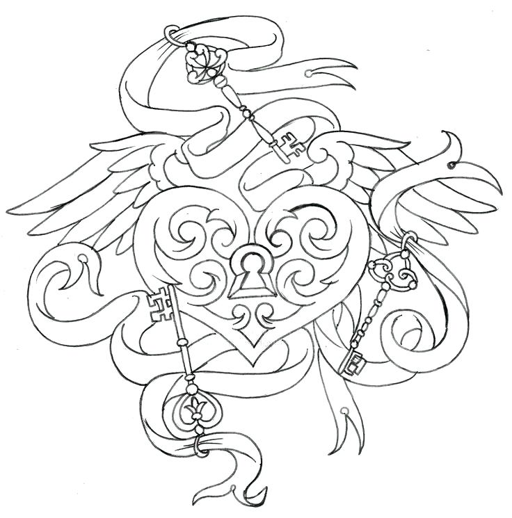 736x745 Good Tattoo Coloring Pages To Print For Tattoo Coloring Books