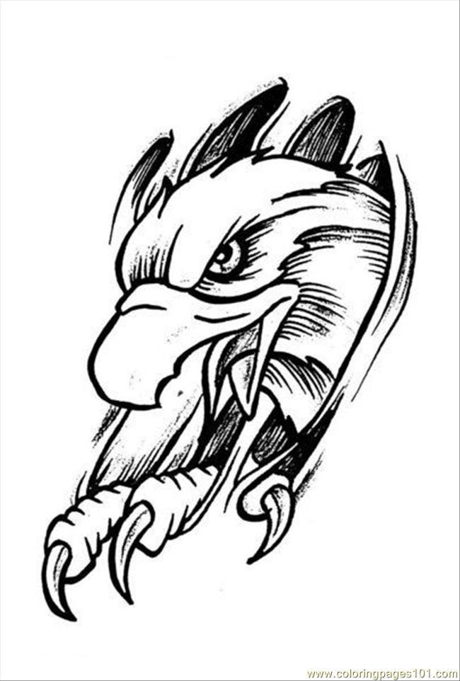 650x962 Eagles Tattoo Design Prev Coloring Page