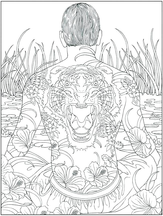 650x860 Fashion Design Coloring Pages Printable Coloring Pages Of Tattoos