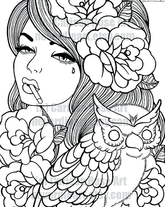 564x705 Tattoo Design Coloring Pages Prepossessing Tattoo Design Coloring