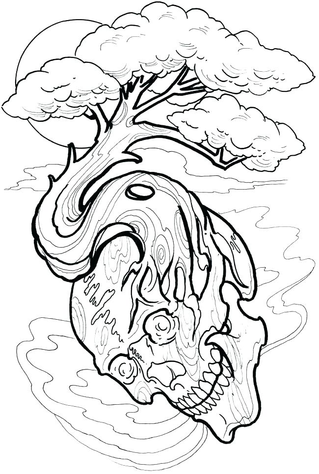 650x965 Coloring Pages Tattoo Designs