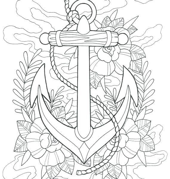 570x600 Coloring Pages Tattoo Designs Heart Printable Tattoos Fuhrer Von