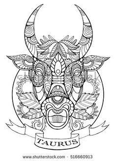 236x328 Sagittarius Zodiac Sign Coloring Page For Adults Fotolia