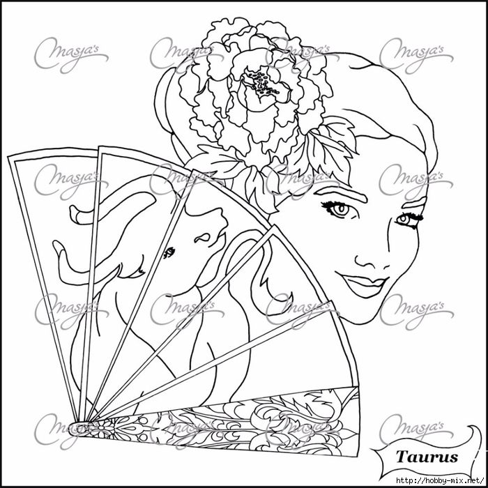 700x700 Taurus Coloring Pages Colouring Adult Detailed Advanced Printable