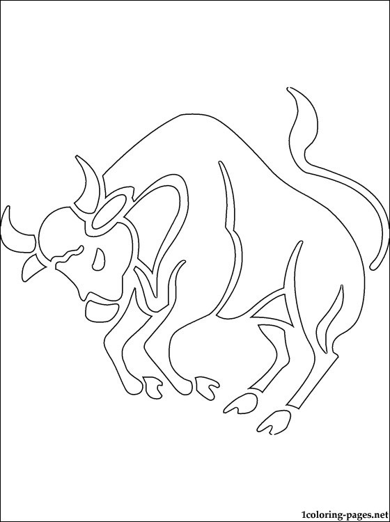 560x750 Taurus Coloring Page Coloring Pages