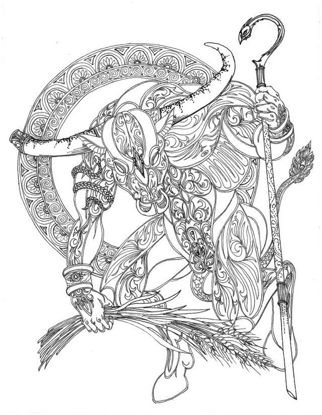 640x825 Taurus Colouring Page