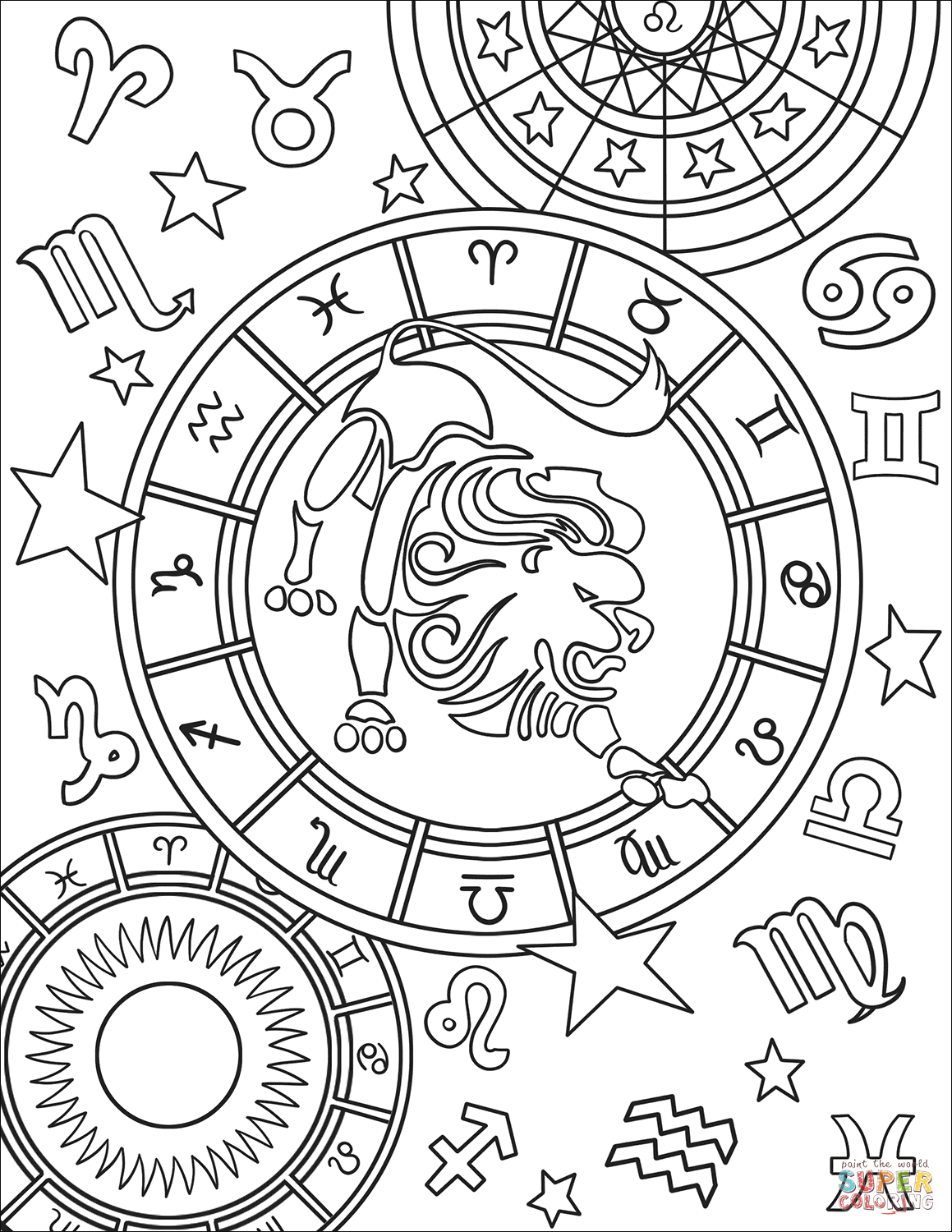 1159x1500 Astrology Coloring Pages