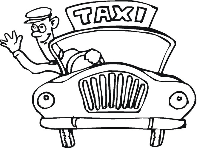 660x498 Taxi Cab Driver Coloring Pages For Preschoolers