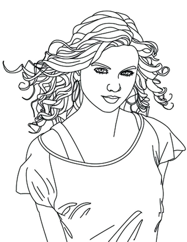 Taylor Swift Black And White Coloring Pages at GetDrawings.com ...
