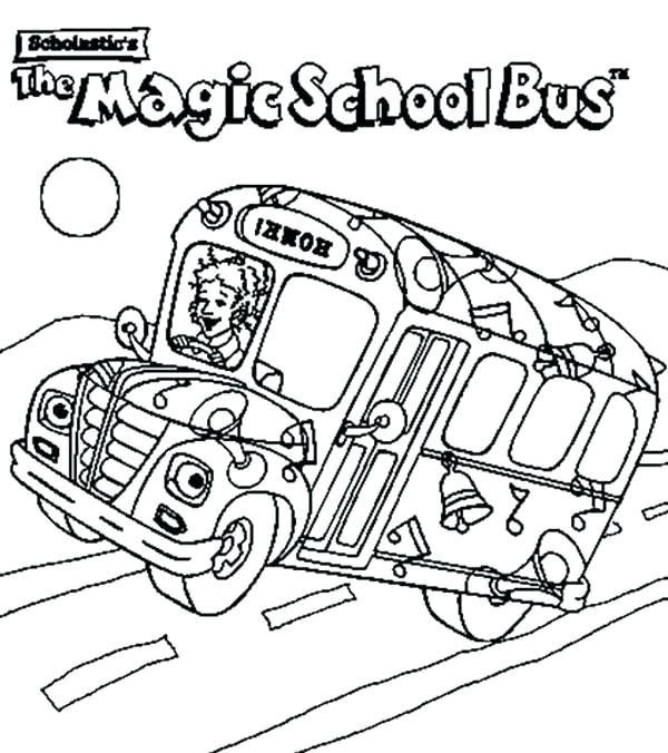 600x676 Bus Coloring Pages The Magic School Bus Coloring Pages School Bus