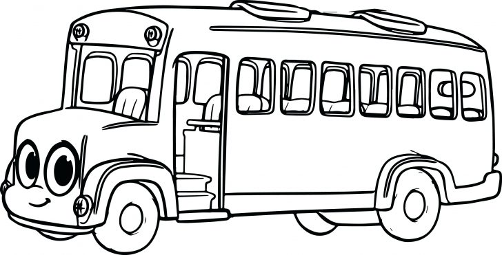 728x371 Coloring Page Bus Coloring Pages Preschool Learning School Tayo