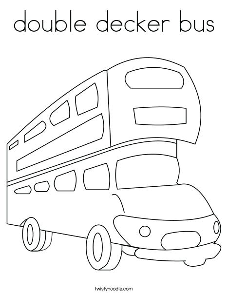 468x605 Bus Coloring Pages Double Bus Coloring Page Tayo Bus Coloring
