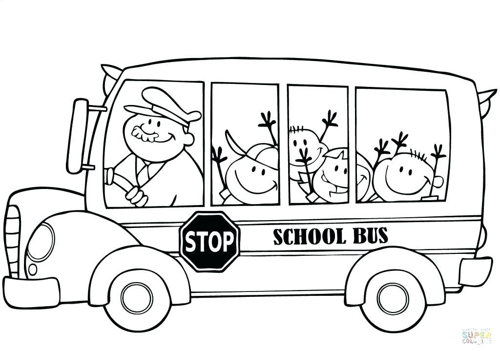 1024x723 Bus Coloring Page Transportation Free School Bus Safety Coloring