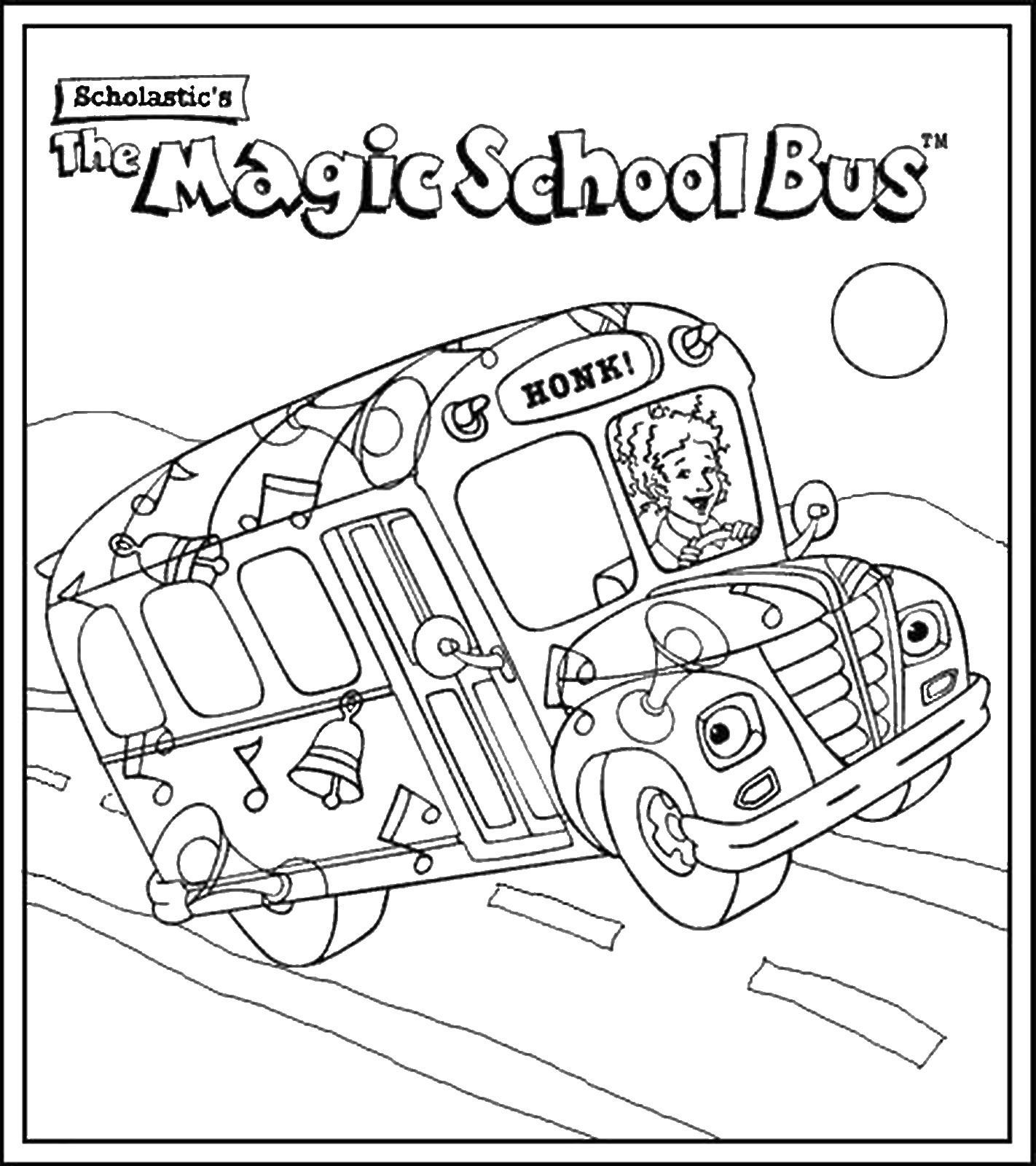 1422x1600 Bus Coloring Pages