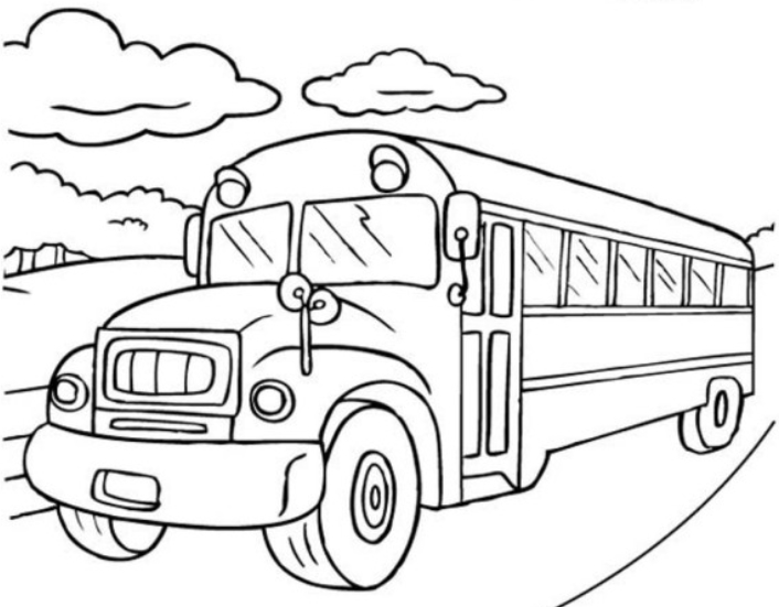 706x551 Bus Coloring Pages